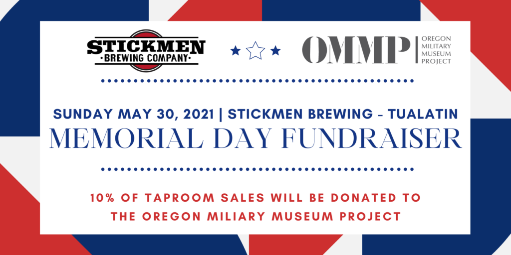 Memorial Day Fundraiser with Stickmen Brewing Company